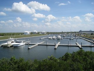 Ruskin condo photo - View from the Master Bedroom Balcony. One of the two full service Marina's.