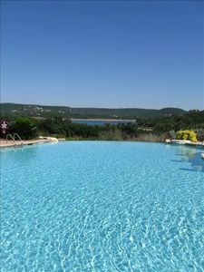 Jonestown condo rental - Infinity pool overlooking Lake Travis