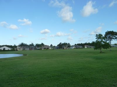 Rear right view of fairway from pool and Lanai