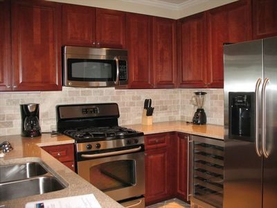 Orange Beach condo rental - Fully Equipped Kitchen with Stainless Steel Appliances and Granite Countertops