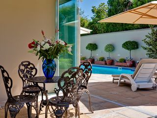 Constantia villa photo - North Patio overlooking Pool & Jacuzzi