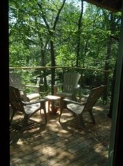North Stonington house photo - Relax in the Adirondack style chairs on the 14X24-foot deck. Ahhhh....