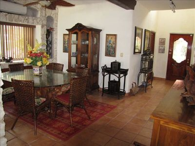 Puerto Morelos house rental - DINING AREA, SEATS 10.....