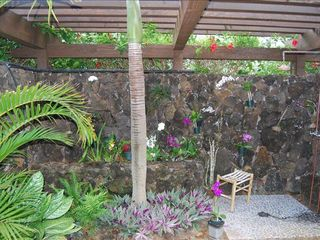 Poipu house photo - Relax in your Lava rock orchid garden. shower as your senses are filled
