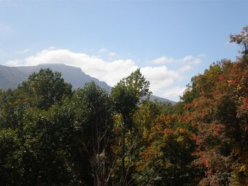 Beautiful view of Grandfather Mountain just outside your door.