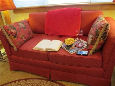 Relax in comfort with a book, some email, or a nap!