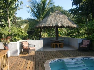 Palapa Table on newly enlarged pool deck