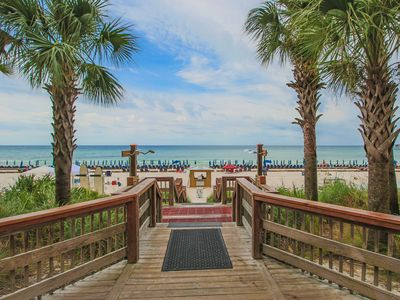 Pools and Tiki Bar are just steps away from the gulf.