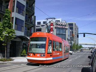 Portland condo photo - Colorful Portland Streetcar