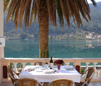 Kotor apartment rental - Dining at Terrace