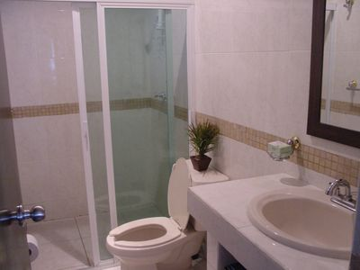 Main bathroom with standup shower