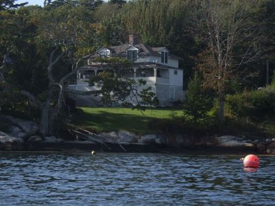 View of cottage from kayaking in bay. As you see, very, very private. Bliss!