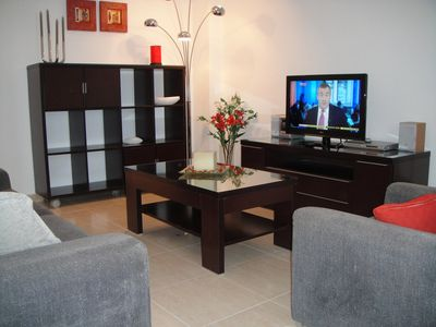 Bellaluz apartment rental - Lounge with cable TV picking up Sky Sports and News, BBC and ITV channels.