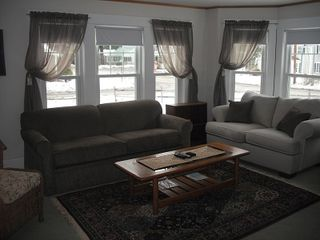 North Conway house photo - Lots of comfy couches..., Books, movies and games all in living area..