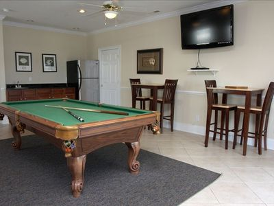 Entertainment area with wet bar for family and friends