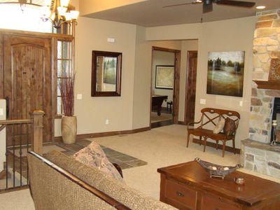 Midway Utah Vacation Rental Great Room With Seating For The Whole Group