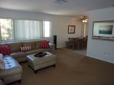 Coronado condo rental - Living and Dining Areas