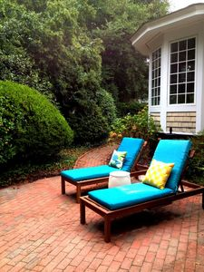Pinehurst cottage rental - Our Private Courtyard with a path winding it's way to downtown Pinehurst.