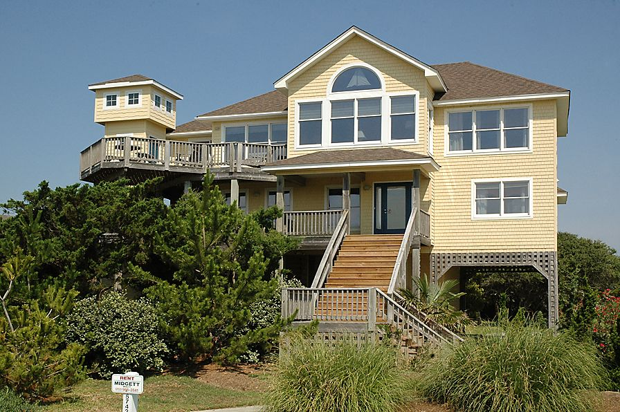 Sol mate 5 bedroom 3 1 bath 1 lot back home in hatteras for Hatteras cabins rentals