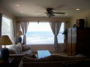 Wrap around ocean views from living room.