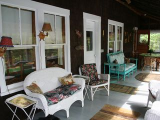 Woodstock lodge photo - Another view of porch with its dining area