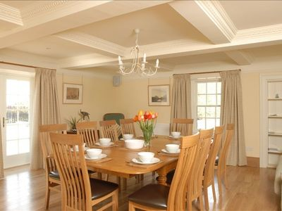 Dining Room is light & spacious with French windows opening to the garden
