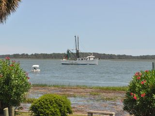 Bluffton house photo - Local shrimp boats returning home down the May River.