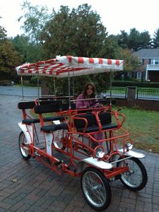 Ride the family w/style in our Surrey Limousine Bike to the Beach! Room for 4-6