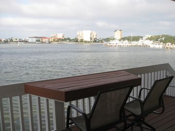 Destin condo rental - View overlooking Destin Harbor from upper deck