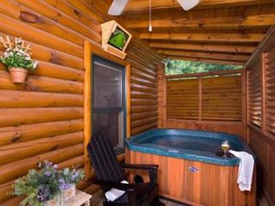 Pigeon Forge cabin rental - .Hot Tub (main floor) with TV