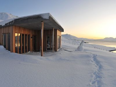 The house in deep snow