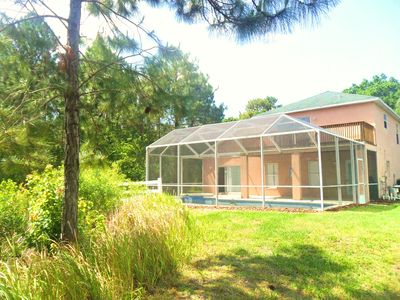 The ONLY home w/Lake,Conservation,Balcony,SouthPool,TotalPrivacy & 10SeatTheater