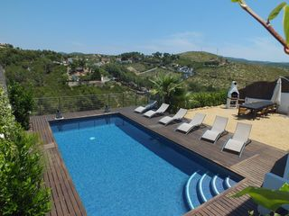 Sitges Town villa photo - Pool and BBQ