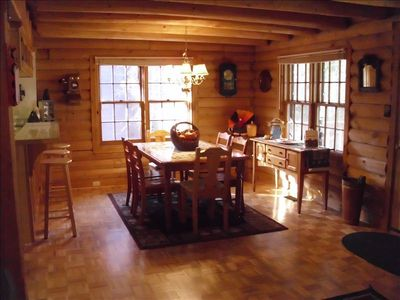 Dancing Bear Cabin Fall Dining Room