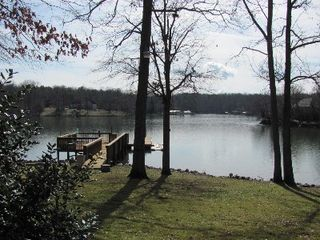 Clover house photo - Private dock with seating area- great fishing hole!
