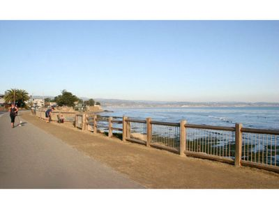 Santa Cruz house rental - Take the beach cruisers for a ride along the bluff path to check the surf...