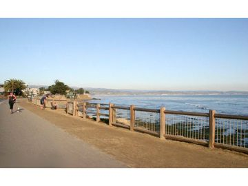 Take the beach cruisers for a ride along the bluff path to check the surf...
