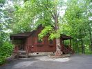 Front and side view of cabin - Pigeon Forge cabin vacation rental photo