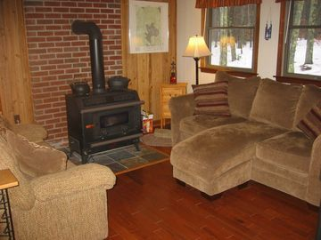 Enjoy our cozy sitting room in the Woodrow