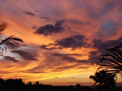 An amazingly dramatic October sunset -- seen from main lanai