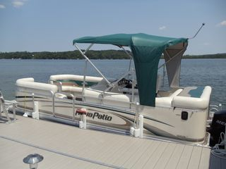Lake Leelanau house photo - Rental pontoon with 90 hp Mercury four stroke motor