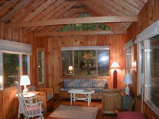 Great Barrington cottage photo - The Lounge (or Family Room) is 12' x 18' with sliding windows on three sides.