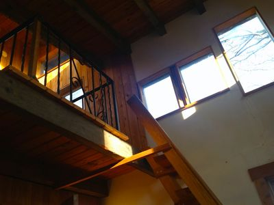 Wellfleet house rental - stairs & loft