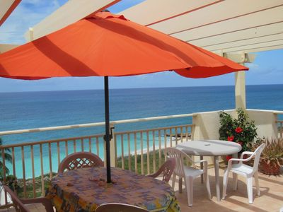 "Our Sunset Balcony where  you may ""catch the Green Flash"" at Sundown if lucky!"