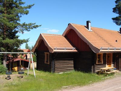 A fabulous log house at the foot of Gesundaberget and Santa Claus Village