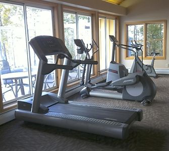 Like all Resort guests, use fitness center & sauna/pool/whirlpool, steps away