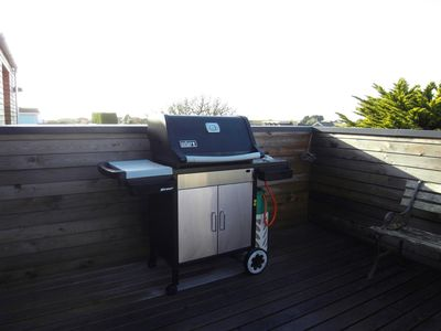 Chichester house rental - Another terrace with BBQ