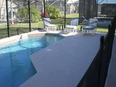 Pool Deck including removable safety fence