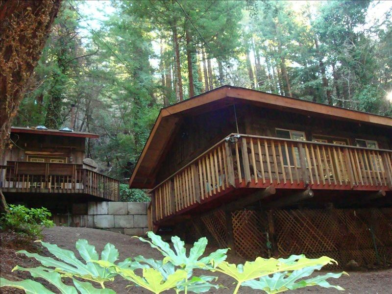 2 unique cabins in the magical redwood homeaway for Big sur cabin
