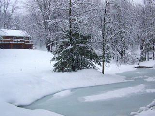 Woodstock cabin photo - Our stream fed pond on ice
